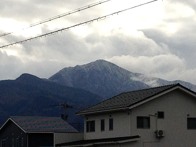 荒島岳初冠雪
