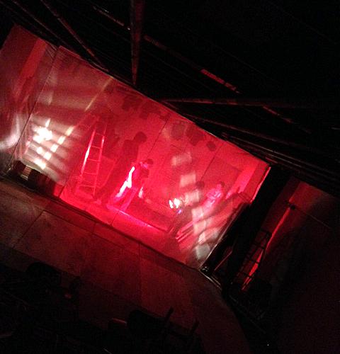 演劇舞台の紗幕