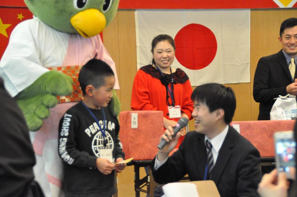 ビンゴに最初に当選した、日本人と結婚された方のお子様