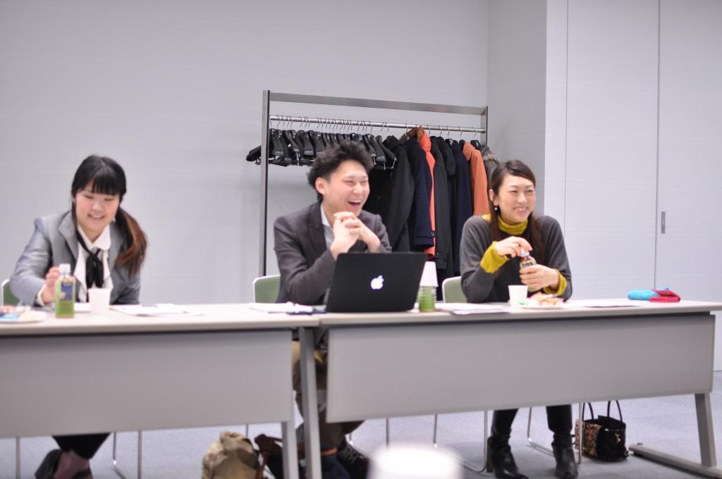 右:現会長の水野女史 真中:前会長の加賀氏