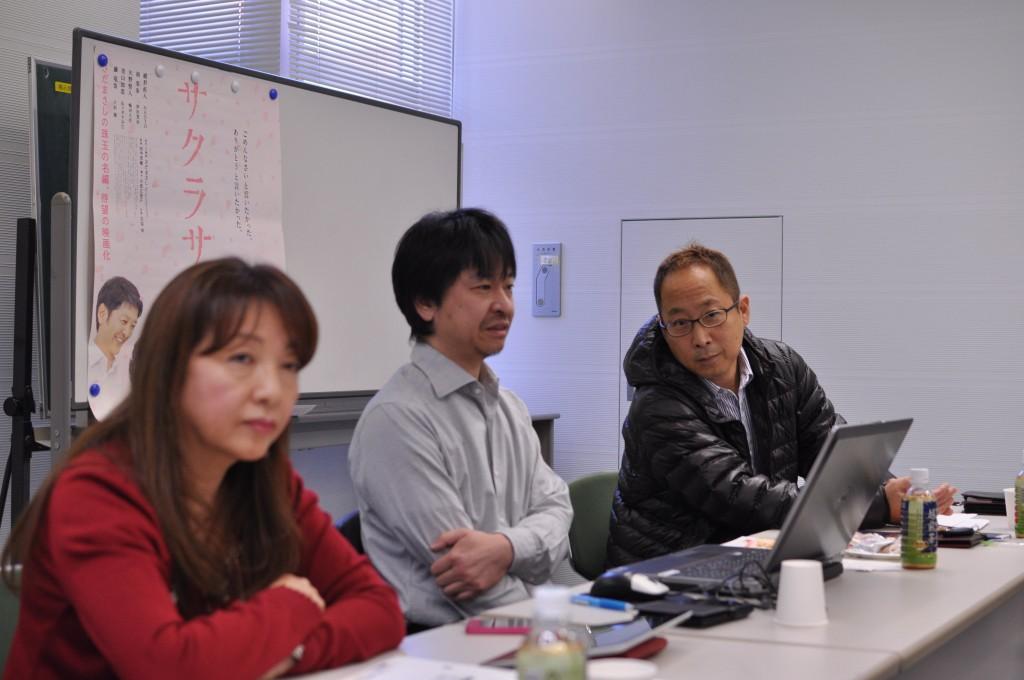 右:吉村氏 真中:小林大先生 左:石塚女史