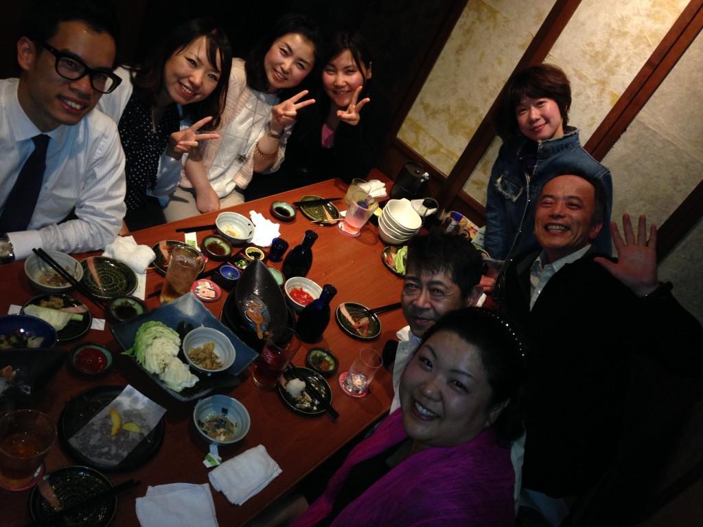 国際交流委員の李さんの歓迎会