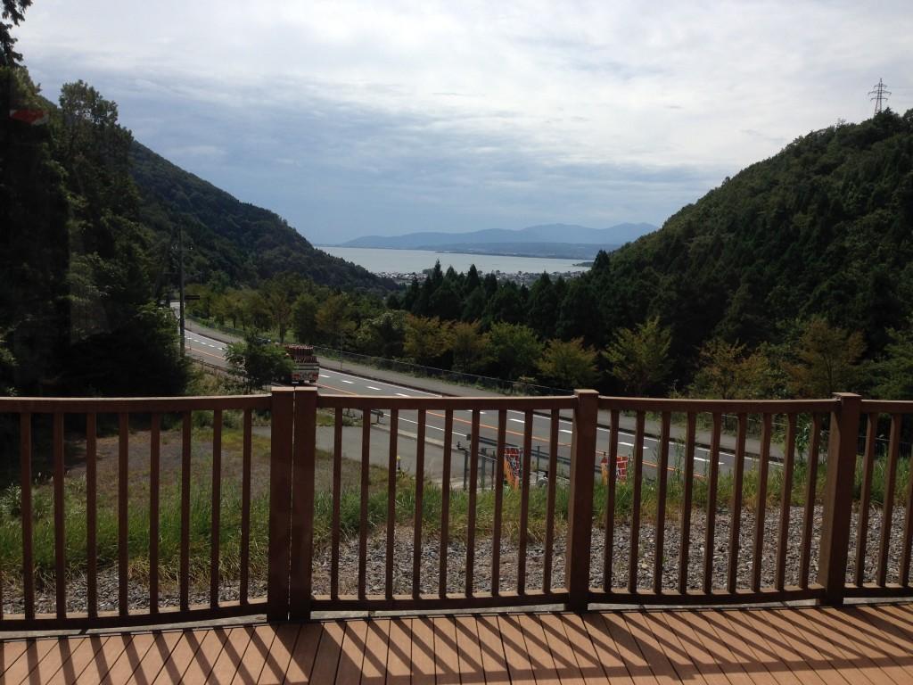 マキノ道の駅から見える琵琶湖