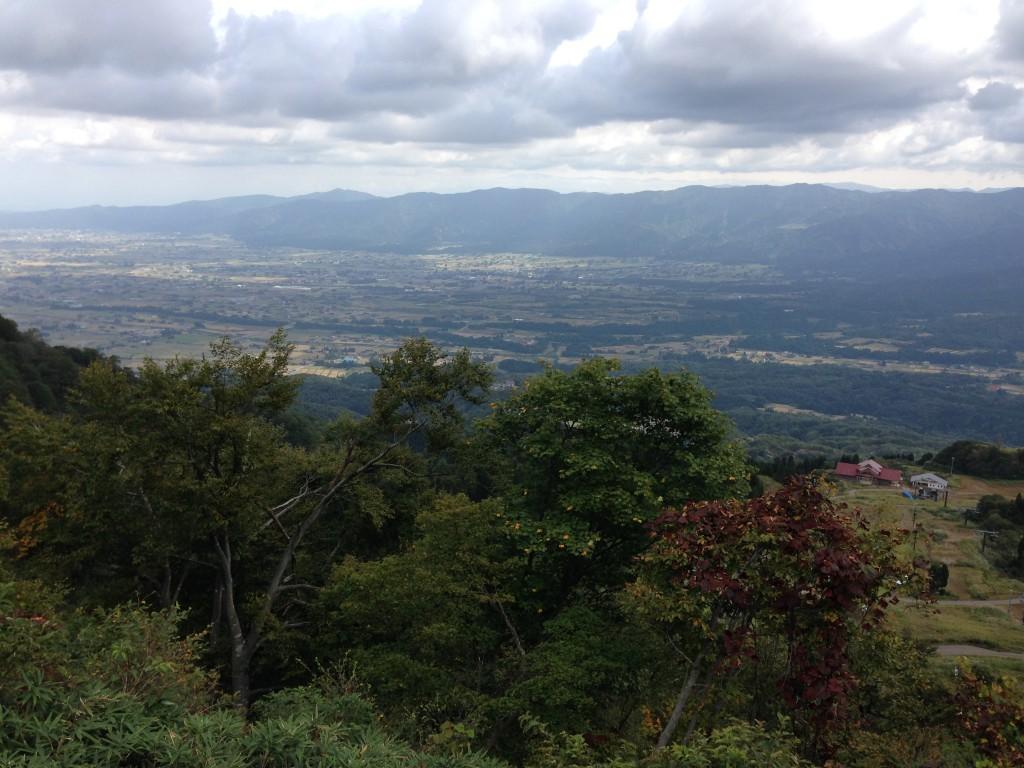 展望台から富山方面