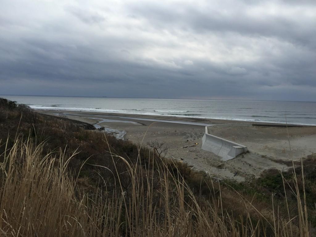 遠州灘の海岸